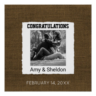 Create Your Own Photo Wedding Sign Congratulations Poster