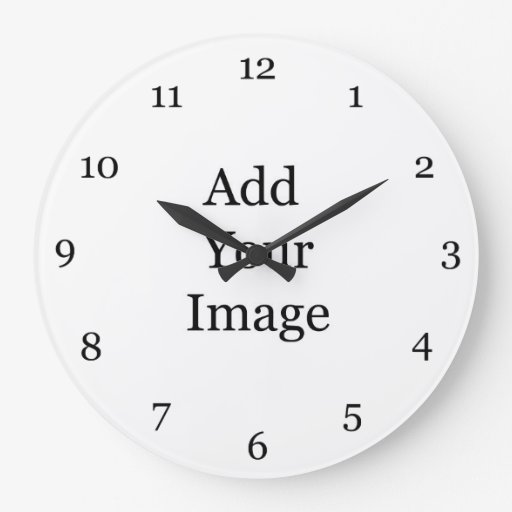 Create your own picture wall clock. wall clocks