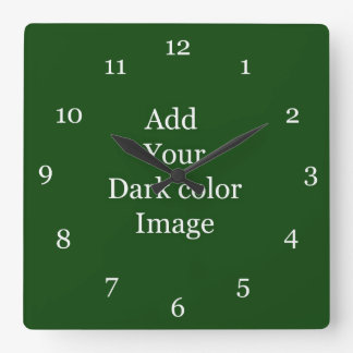 Create your own picture wall clock. square wall clock