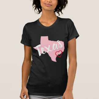 Create Your Own Pink Texas Red Heart T-Shirt