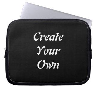 Create Your Own Plain Black Lap Top Case