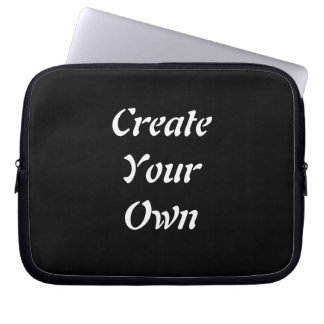 Create Your Own Plain Black Lap Top Case Computer Sleeve