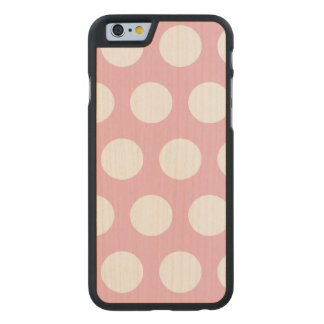 Create Your Own Polka Dot Carved Maple iPhone 6 Case