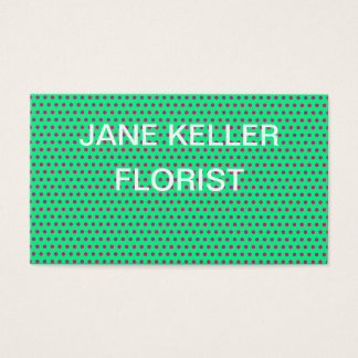 Create Your Own Polka Dot Lime Green Business Card