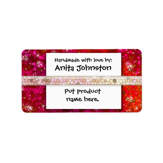 Create Your Own Product Label Glitter Bling Address Label