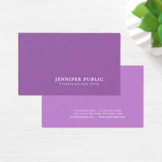 Create Your Own Professional Elegant Violet Modern Business Card