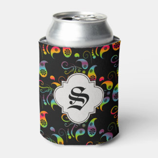 Create Your Own Rainbow Paisley Can Cooler