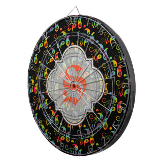 Create Your Own Rainbow Paisley Dartboard