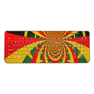 Create Your Own Rasta Colors Faded Glory Red Gold Wireless Keyboard