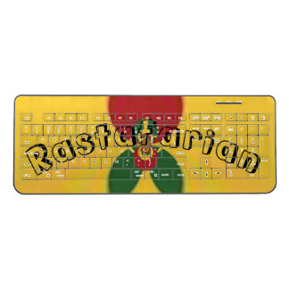 Create Your Own Rastafari Rastafarianism Colors Wireless Keyboard