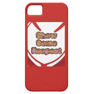 Create Your Own Red show some respect Barely There iPhone 5 Case