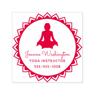 Create Your Own Red Yoga Pose Self-inking Stamp