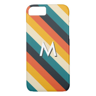 Create Your Own: Retro Stripes Monogram iPhone 8/7 Case