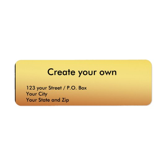 Create your own Return Gold Address Label