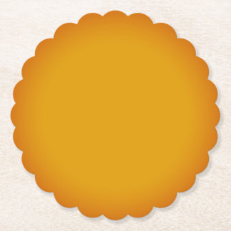 CREATE YOUR OWN Reusable Round Scallop Paper Coaster