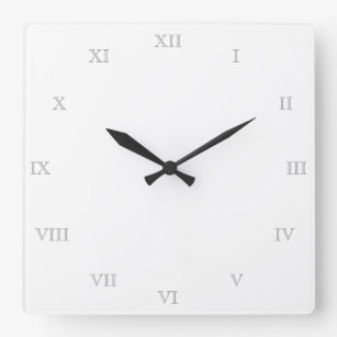 Make Your Own Clock Template | Template Numbers Wall Clocks Zazzle Com Au