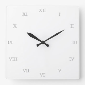 Create Your Own Roman Numerals Blank Template Wallclock