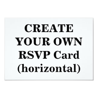 Create Your Own RSVP Card (horizontal)