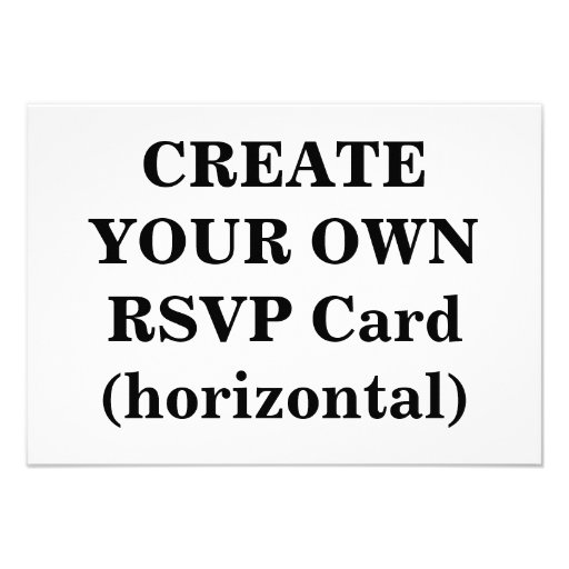 Create Your Own Rsvp Card Horizontal 3 5 X 5
