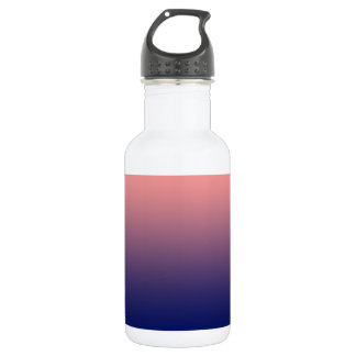 Create your own | salmon pink to blue gradient 532 ml water bottle