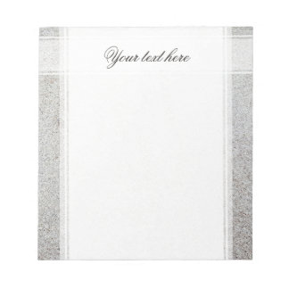 Create your own | Sand texture photo Notepad