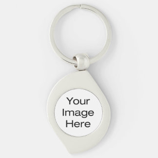 Create Your Own Silver-Colored Swirl Key Ring