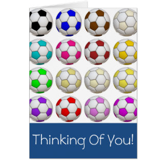 Create Your Own Soccer Thinking Of You Card