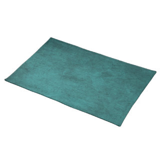 Create Your Own Solid Teal Distressed Style Placemat