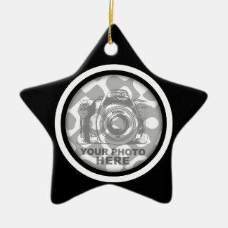 Create Your Own Star Ornament Black White Frame