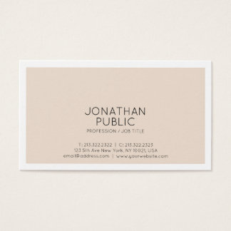 Create Your Own Stylish Modern Simple Design Matte Business Card
