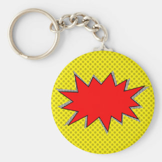 Create Your Own Superhero Onomatopoeias! Custom BG Key Ring