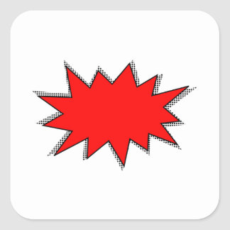 Create Your Own Superhero Onomatopoeias! POW! Square Sticker