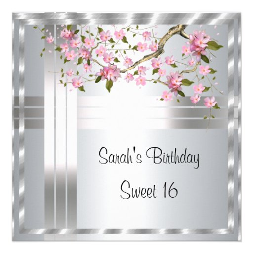 create your own sweet 16 birthday invitation 5 25 u0026quot  square