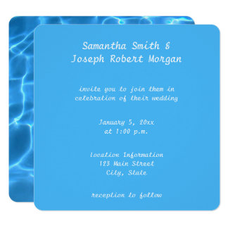 Create Your Own Swimming Pool Photo Wedding Card