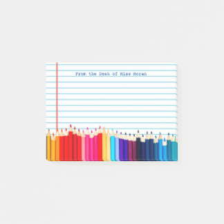 Create Your Own Teachers Name Personalized Pencils Post-it Notes