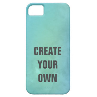 Create Your Own Turquoise Watercolor Painting Barely There iPhone 5 Case