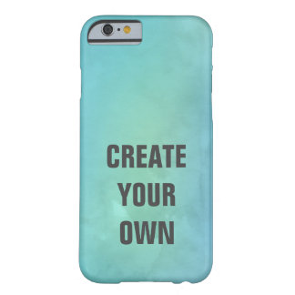 Create Your Own Turquoise Watercolor Painting Barely There iPhone 6 Case