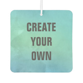 Create Your Own Turquoise Watercolor Painting Car Air Freshener