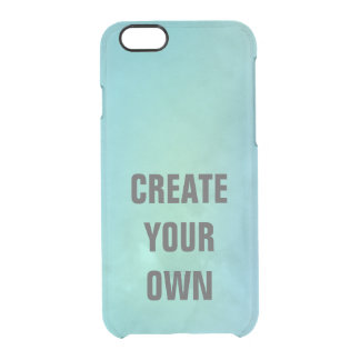 Create Your Own Turquoise Watercolor Painting Clear iPhone 6/6S Case