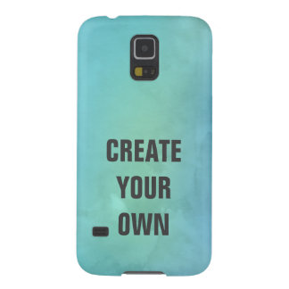 Create Your Own Turquoise Watercolor Painting Galaxy S5 Cases