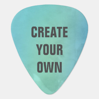 Create Your Own Turquoise Watercolor Painting Guitar Pick