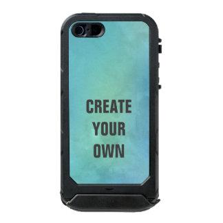 Create Your Own Turquoise Watercolor Painting Incipio ATLAS ID™ iPhone 5 Case