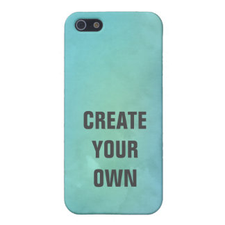 Create Your Own Turquoise Watercolor Painting iPhone 5/5S Case