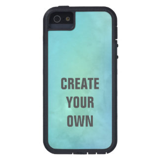 Create Your Own Turquoise Watercolor Painting iPhone 5 Case