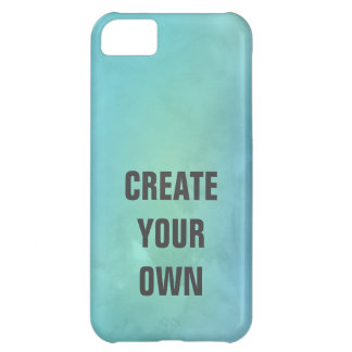 Create Your Own Turquoise Watercolor Painting iPhone 5C Case