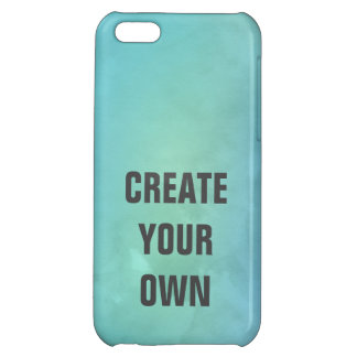 Create Your Own Turquoise Watercolor Painting iPhone 5C Cover