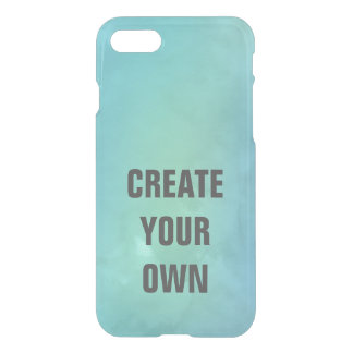 Create Your Own Turquoise Watercolor Painting iPhone 8/7 Case