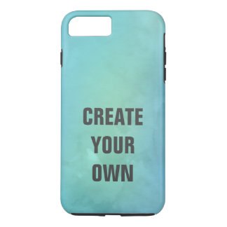 Create Your Own Turquoise Watercolor Painting iPhone 8 Plus/7 Plus Case