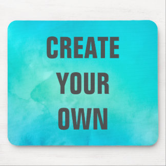 Create Your Own Turquoise Watercolor Painting Mouse Pad