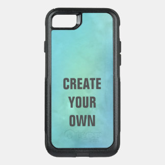 Create Your Own Turquoise Watercolor Painting OtterBox Commuter iPhone 8/7 Case